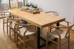 bàn ghế ăn gỗ tự nhiên nguyên tấm