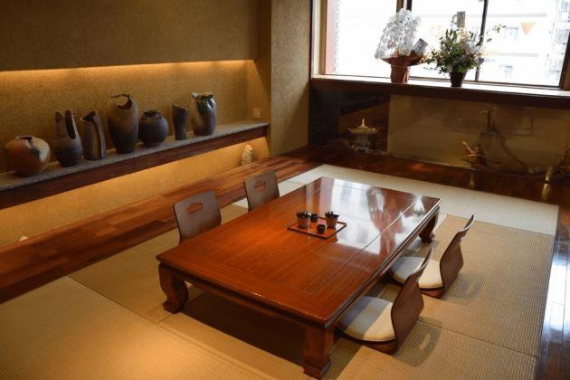 bàn trà đạo gỗ nguyên tấm